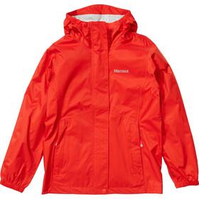 Marmot PreCip Plus Chaqueta Niñas, rojo
